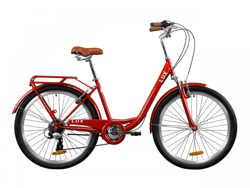 "Велосипед Dorozhnik LUX AM Vbr ST 26"" (рама 17, рубіновий)"