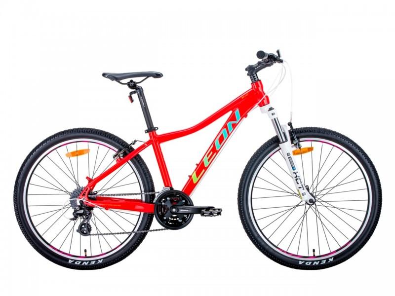 """Велосипед Leon HT-Lady AM 26"""" (рама 15"""", червоний/салатовий, 2020, б/в)"""