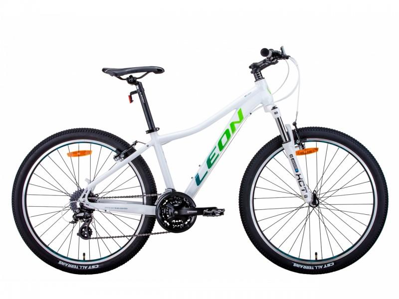 """Велосипед Leon HT-LADY AL 26"""" AM Vbr (рама 17.5"""", білий/синій/салатовий, 2021)"""