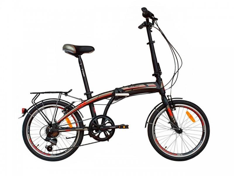 """Велосипед VNC MidWay EQ 20"""" (складаний, чорний/червоний, 2021)"""