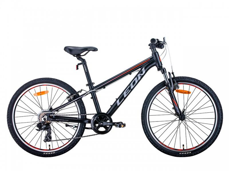 "Велосипед Leon Junior 24"" (рама 12"", чорний/помаранчевий, б/в)"
