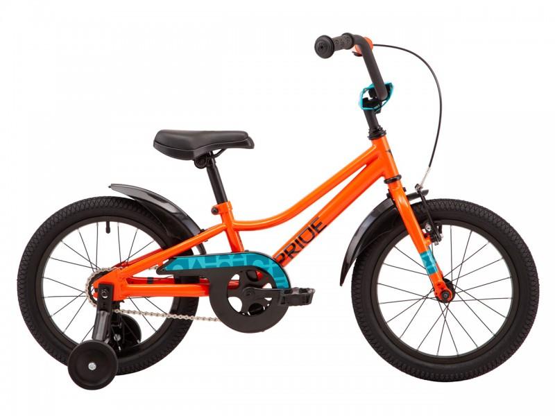 "Велосипед Pride Flash 16 16"" (2021, помаранчевий)"