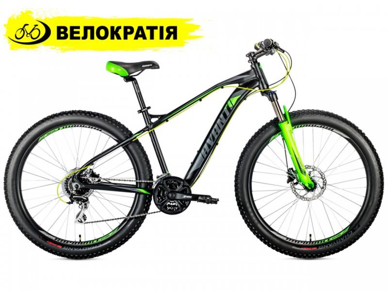 """Велосипед Avanti boost 650 B+ 27.5"""" (рама 19, черно-зеленый)"""