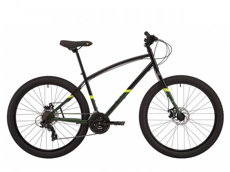 """Велосипед Pride Rocksteady 7.1 27.5"""" (рама 19, чорний/зелений)"""