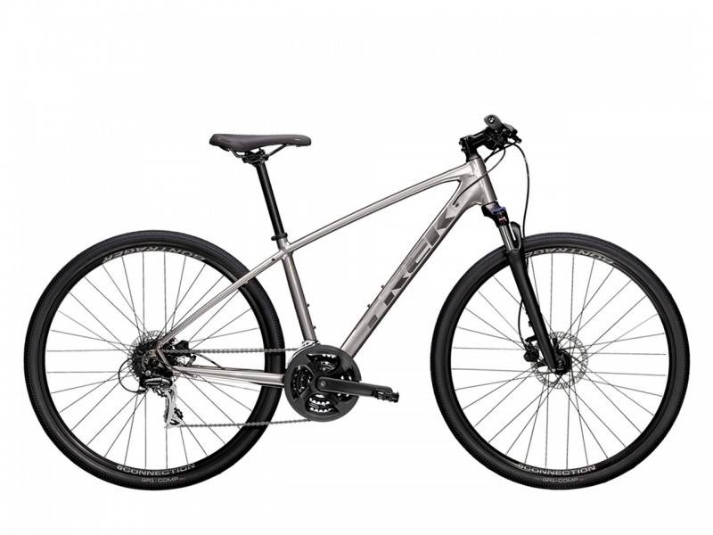 """Велосипед Trek Dual Sport 2 SL 28"""" (рама L, сріблястий, 2021)"""