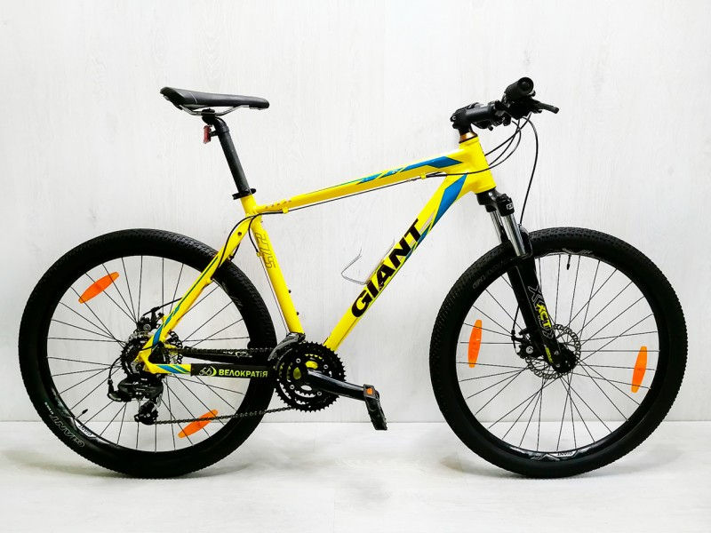"Велосипед Giant ATX 2 27.5"" (рама 19"", жовтий, б/в)"