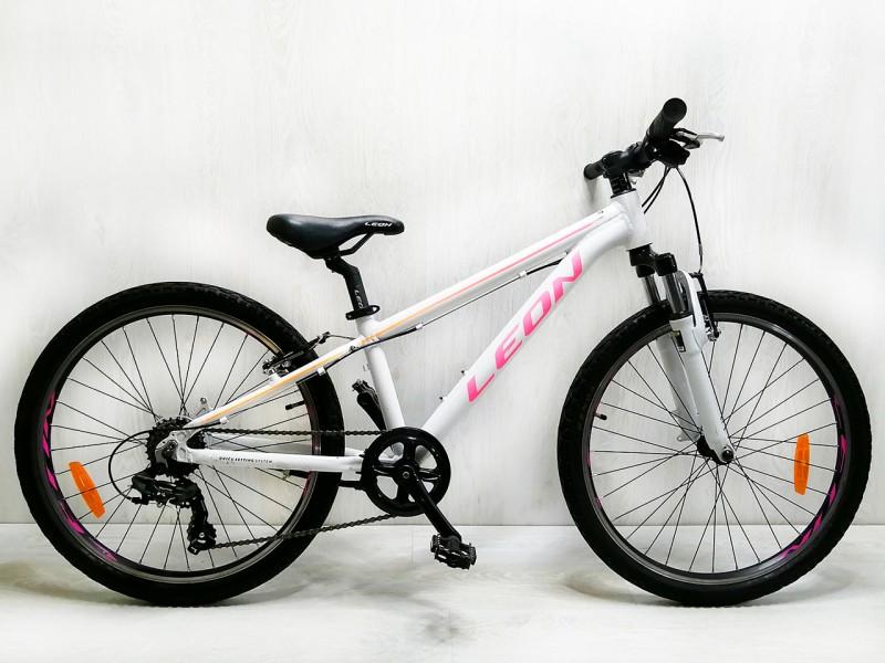 """Велосипед Leon Junior 24"""" (рама 12"""", білий/малиновий, б/в)"""