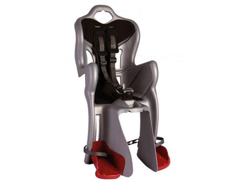 """Велокрісло дитяче заднє Bellelli B1 Standart (26"""" - 28"""", сріблястий/чорний)"""
