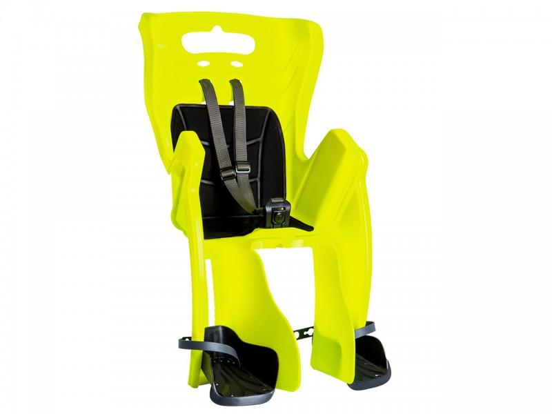 """Велокрісло дитяче заднє Bellelli Little Duck Standard Multifix (26""""-28"""", неоново-жовтий/чорний, Hi Vision)"""
