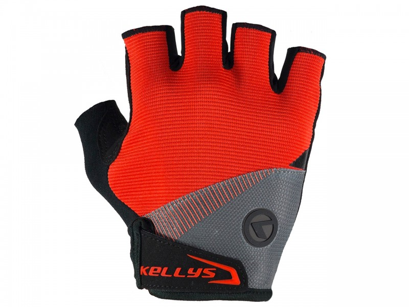 Велоперчаки без пальців Kellys Comfort (червоний, L)