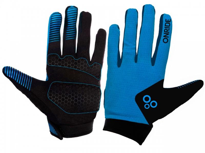 Велоперчатки Onride Long 20 (синій/чорний, M)