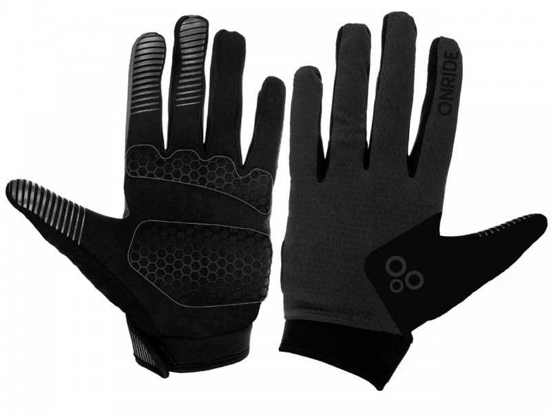 Велоперчатки Onride Long 20 (сірий/чорний, M)