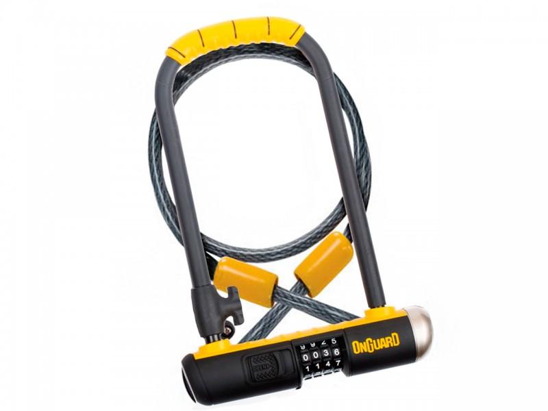 Велозамок U-подібний Onguard Bulldog Combo DT (скоба, 115x230, чорний/жовтий)