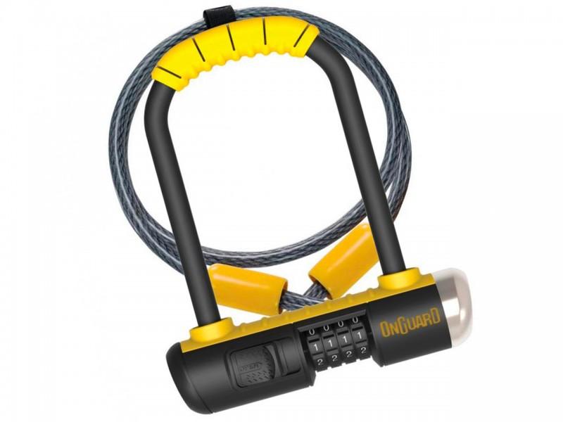 Велозамок U-подібний Onguard COMBO Mini DT (скоба, 90x140, чорний/жовтий)