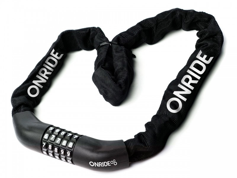 Велозамок з ланцюгом ONRIDE Tie Code 10, 4х1000мм