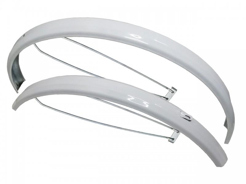 """Комплект крил для велосипеда 26"""" сталеві, білі"""
