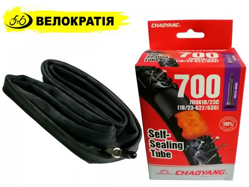 """Камера для велосипеда 28"""" 700x18/23C Chaoyang (FV) self sealing (антипрокольный гель)"""