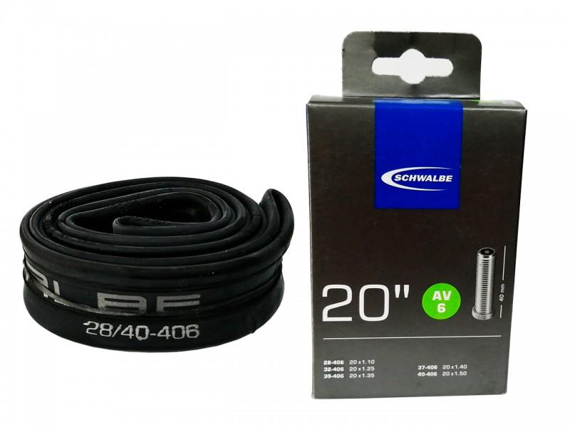 """Камера для велосипеда 20""""x1.5"""" Schwalbe (28/40x406) AV6 40мм IB AGV No6"""